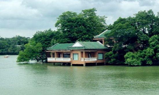 西湖长城风景图片